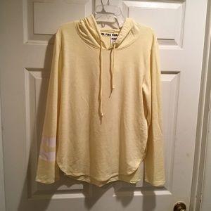 PINK Victoria Secrets yellow hoodie. Size L